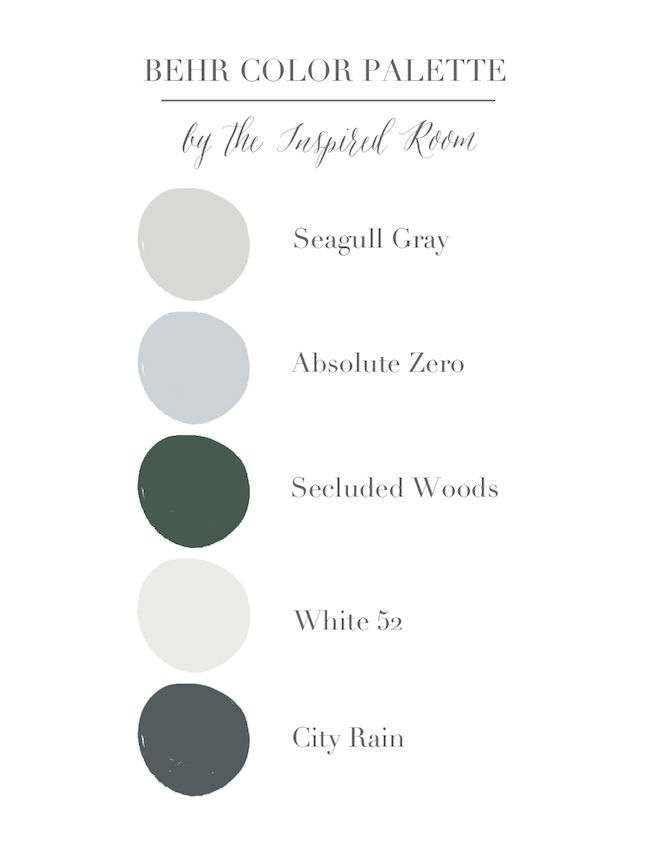 This Palette Would Be Beautiful For A Whole Home Or Room Use The Colors On Walls Trim Furniture Cab Behr Paint Colors Grey Behr Colors Bedroom Paint Colors