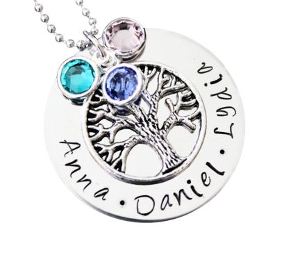 p wing personalized family necklace jcpenney birthstone angel pendant