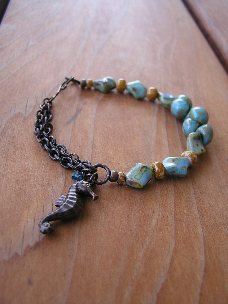 Sea and Sand Bracelet by swallowtailjewellery on Etsy