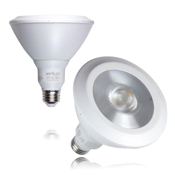 MW LED 2 Packed 120W Equivalent 18W PAR38 LED Bulb, UL-listed, Energy saving LED Dimmable Light Bulb, Cool White 6500K 1180LM 40 Degree Beam Angle, LED Bulbs - Amazon Canada