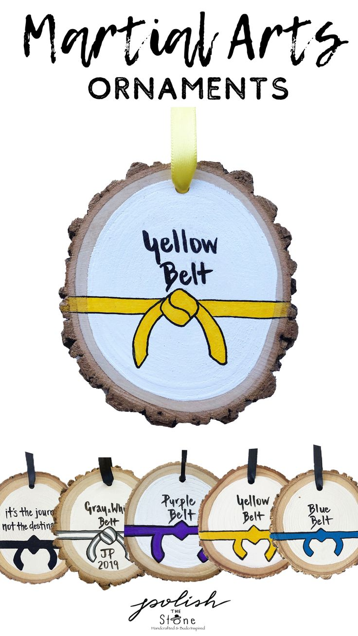Martial arts yellow belt gift christmas gift ideas in