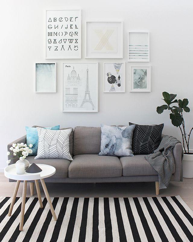 Die besten 17 Bilder zu Livingrooms auf Pinterest Grau, Grauer