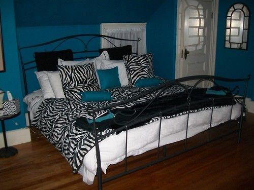 Colors she likes blue and zebra bedroom | blue zebra | Tumblr