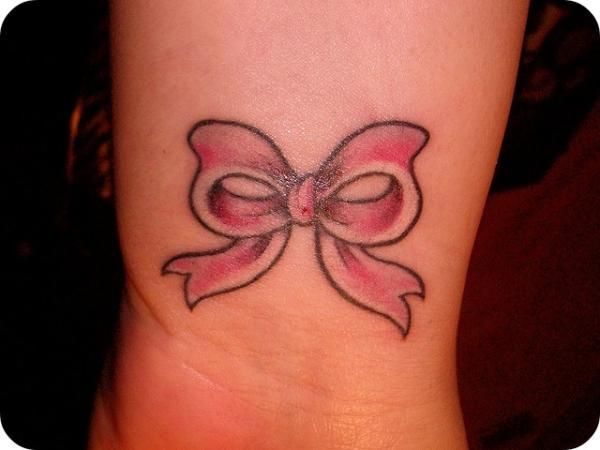 Pink Bow Tattoo | Tattoos | Pinterest