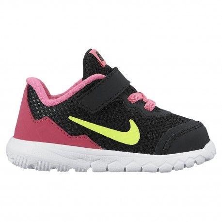 Nike Flex Experience 4 - Girls' Toddler - Running - Shoes - Black/Volt/Pink  Pow/White/Vivid Pink-sku:49821007