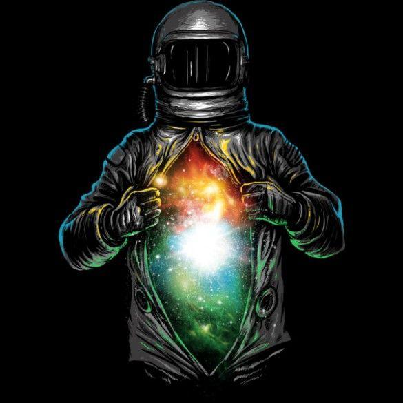 Cosmic Inside T-shirt Design by fourscore - fancy-tshirts.com