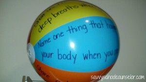 Savvy School Counselor:  beach ball buzz- anger management