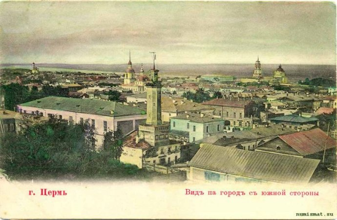 Old Perm. Painted postcards