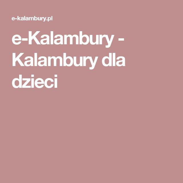 e-Kalambury - Kalambury dla dzieci