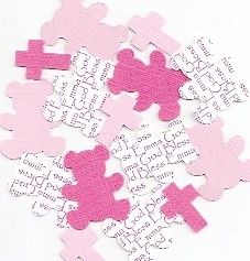 baby girl baptism decorations personalized teddy bear cross confetti table scatter choice of colors