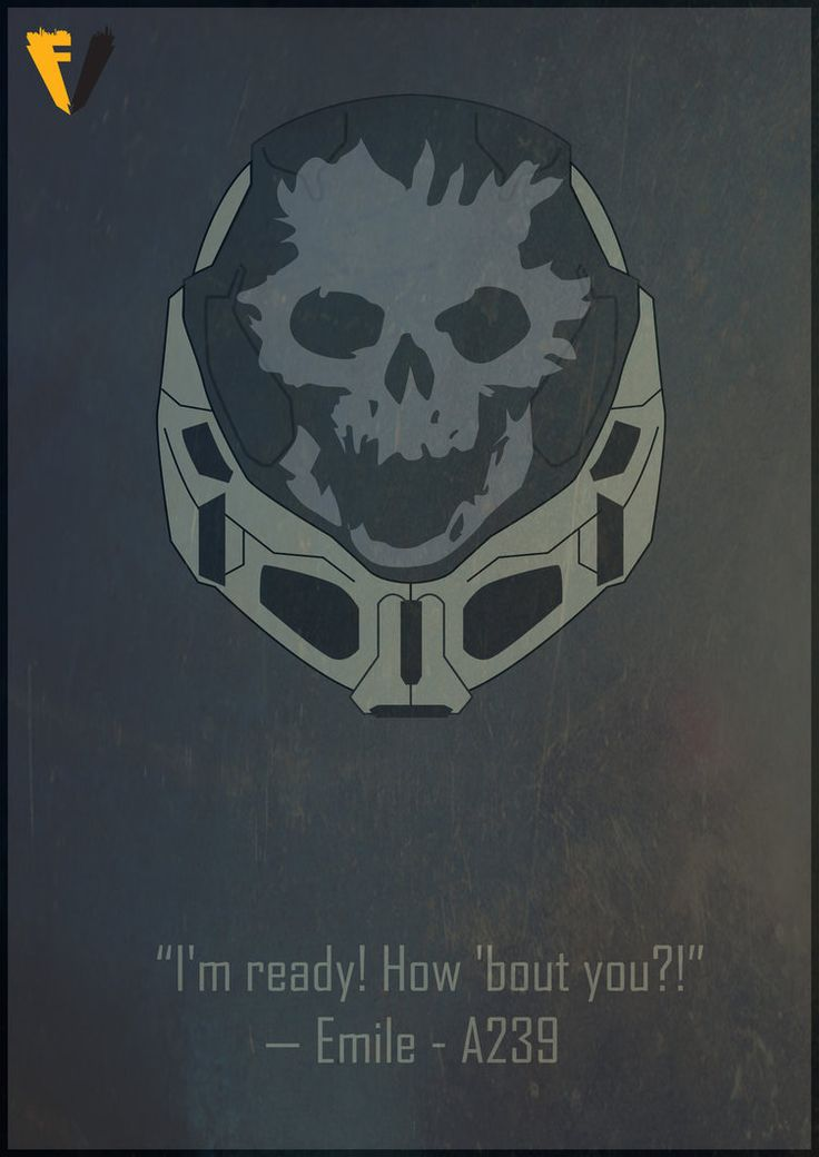 Halo Reach Emile Helmet Poster by FALLENV3GAS