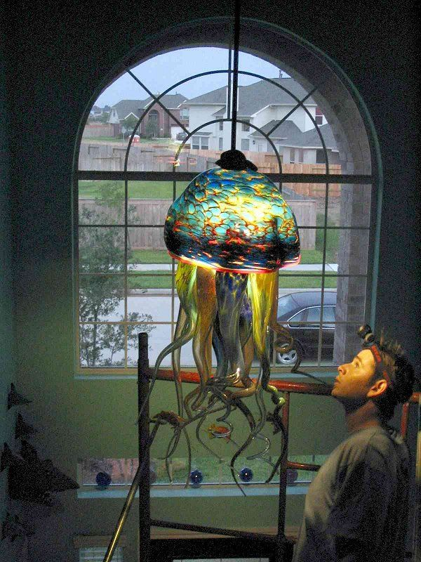 New Jelly Fish Chandelier From Ryno Glass Spawns New