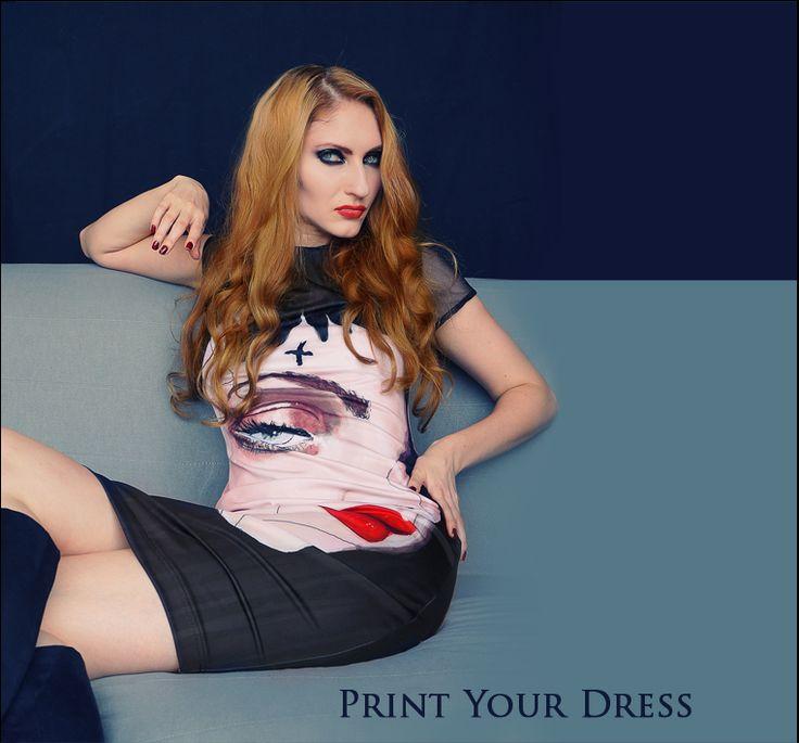 dress with illustrations from PurPur Maganda Dress store -> www.PurPurum.com