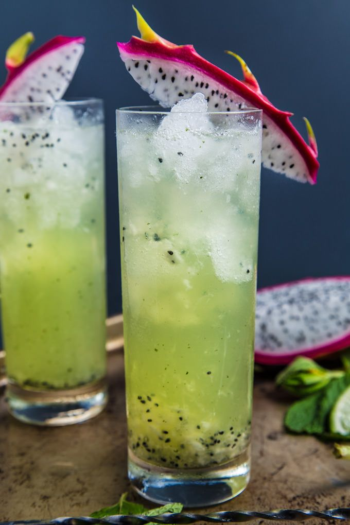 Dragonfruit Mojito from @southernfatty