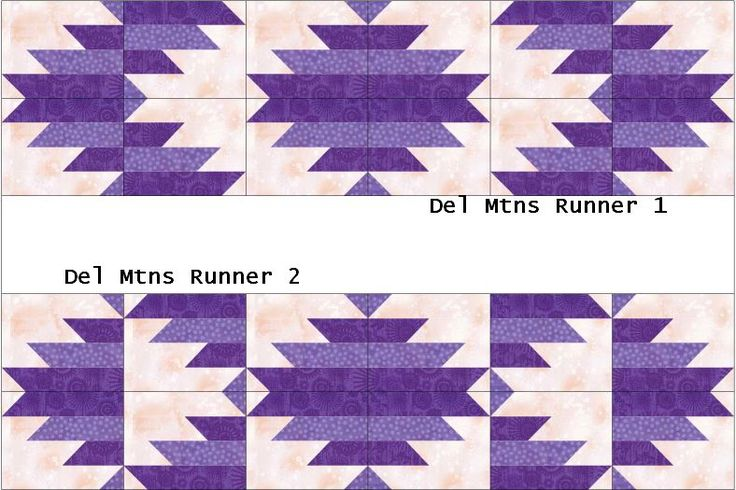 delectable mountains   Scrapbox Quilts: February is Delectable Mountains Month- Table Runners