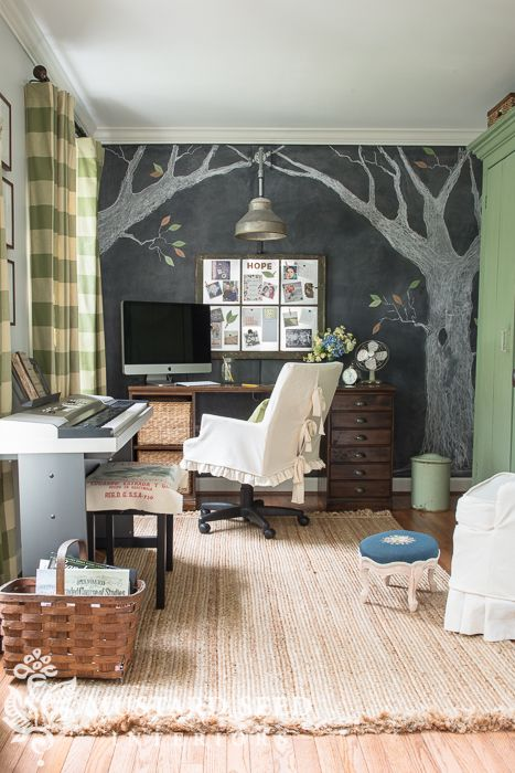 eclectic farmhouse office makeover | miss mustard seed
