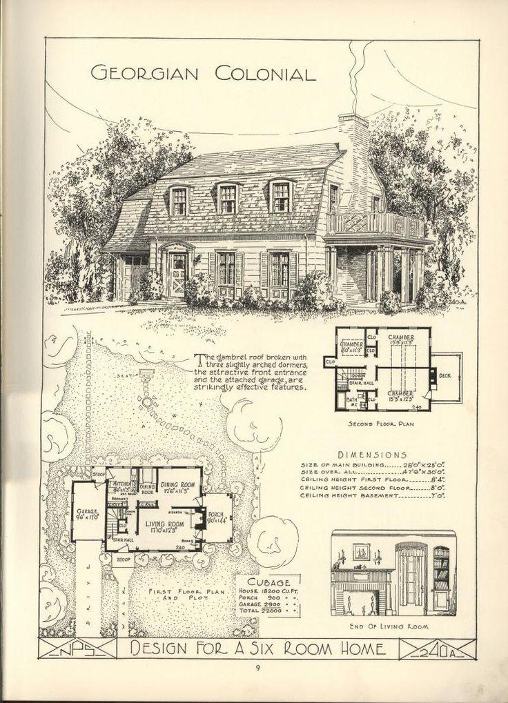 679 best dutch colonial images on pinterest dutch for Dutch colonial plans