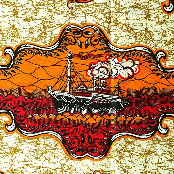 タンザニア アフリカ布 キテンゲ(豪華客船の旅)