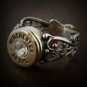 Women's .38 Special Filigree Sterling Silver Bullet Ring - Bullet Jewelry by JECTZ®