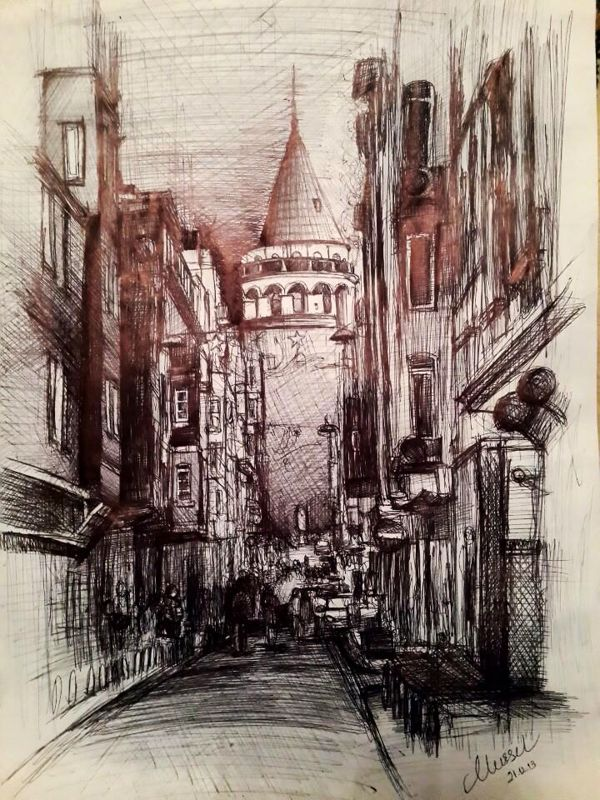 The Galata Tower.. by Nursel Bozkurt, via Behance