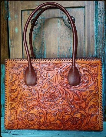Large Juan Antonio Tooled Saddle Bag from Cowgirl Kim
