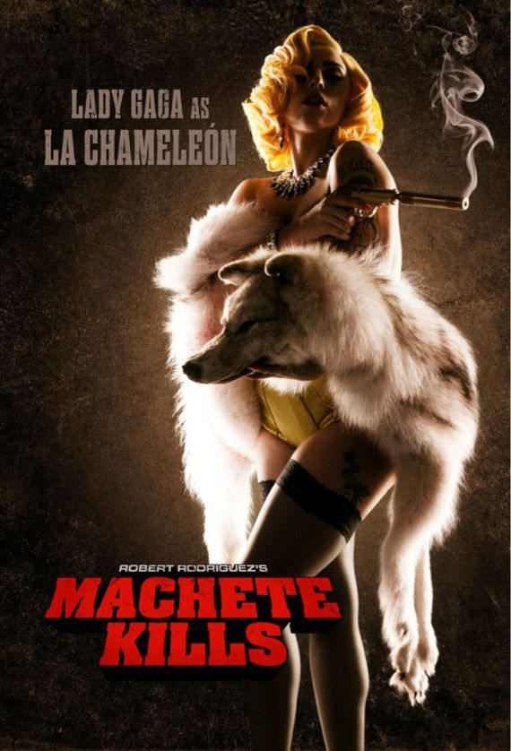 "Soon to be vamping it up on a movie screen near you: Lady Gaga. Mother Monster has been cast in Robert Rodriguez' ""Machete Kills,"" a film well known for its oddball casting. The singer apparently already put in work on the set, and has her own PETA-friendly poster to boot."