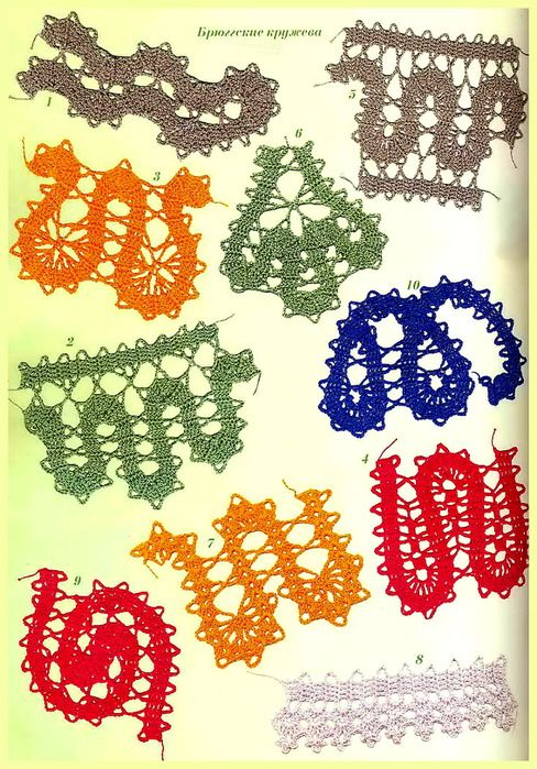 creating freeform shapes with bruges lace crochet