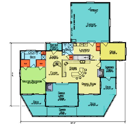 Walton 39 s mountain floor plan from ward cedar log homes for Walton house floor plan