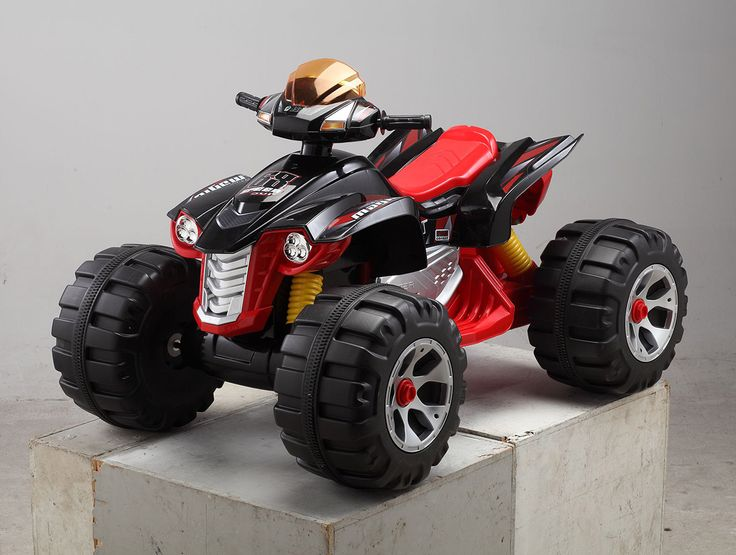 Kids Cars 12 Volt Electric Battery Operated Ride On Quad Bike - Black