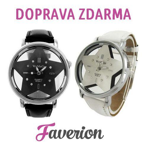 Dámské hodinky Star nyní s DOPRAVOU ZDARMA!  Dámské hodinky v luxusním provedení s ciferníkem ve tvaru hvězdy. Materiál pouzdra je kombinace oceli a skla. Vynikají tak svým originálním provedením a upoutávají pozornost!  http://www.faverion.cz/hodinky/damske/star-damske-hodinky/  Akce s dopravou zdarma je platná do 30.11.2016 nebo do vyprodání zásob!