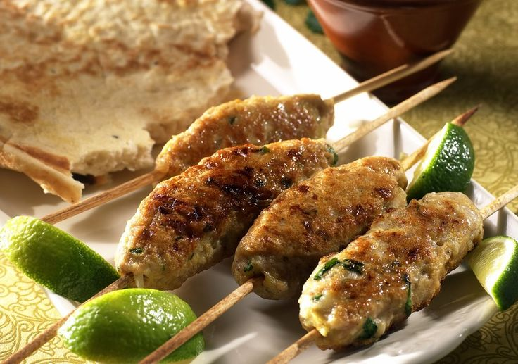 Kyllingkebab med raita