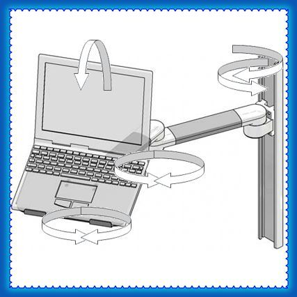 Bras articul combo pour ordinateur portable double for Ordinateur pour montage photo