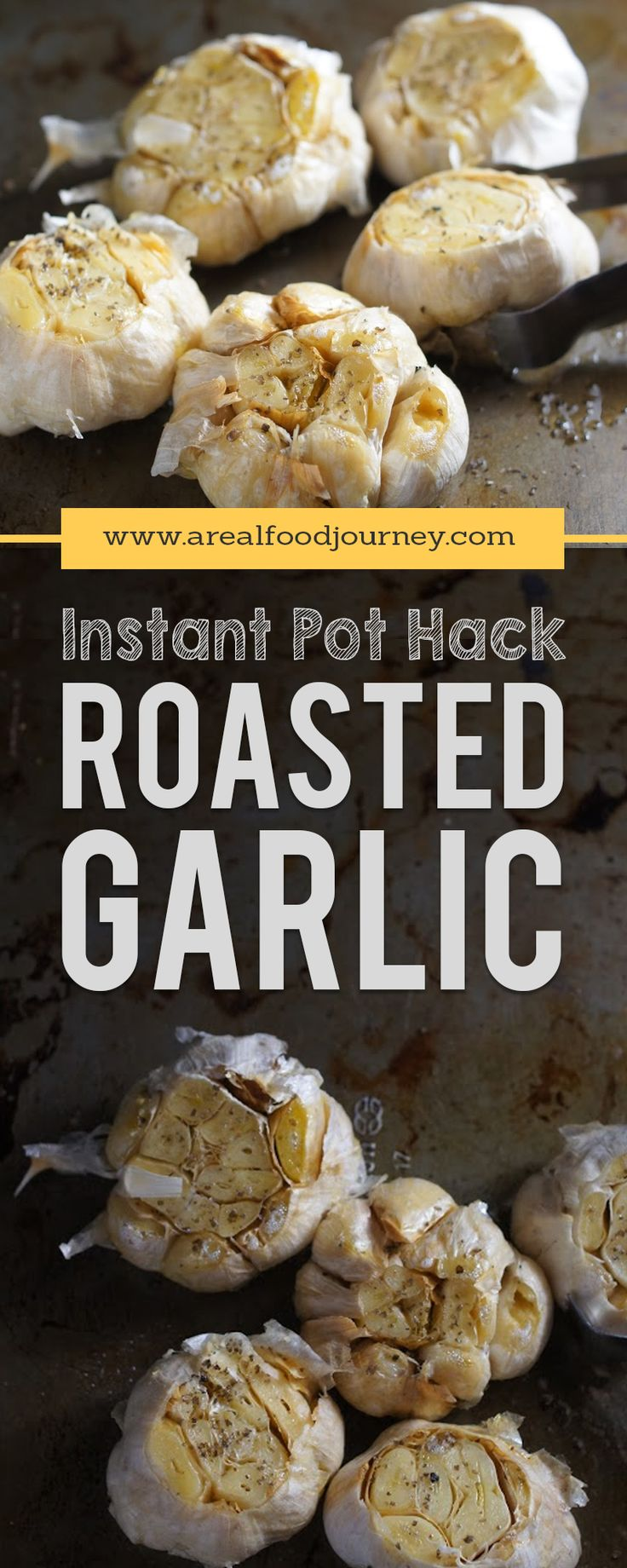 Crazy simple roasted garlic in your instant pot. Get the roasted flavor in a fraction of the time. Instructions for roasted garlic in your instant pot! (Whole Chicken In The Crockpot)