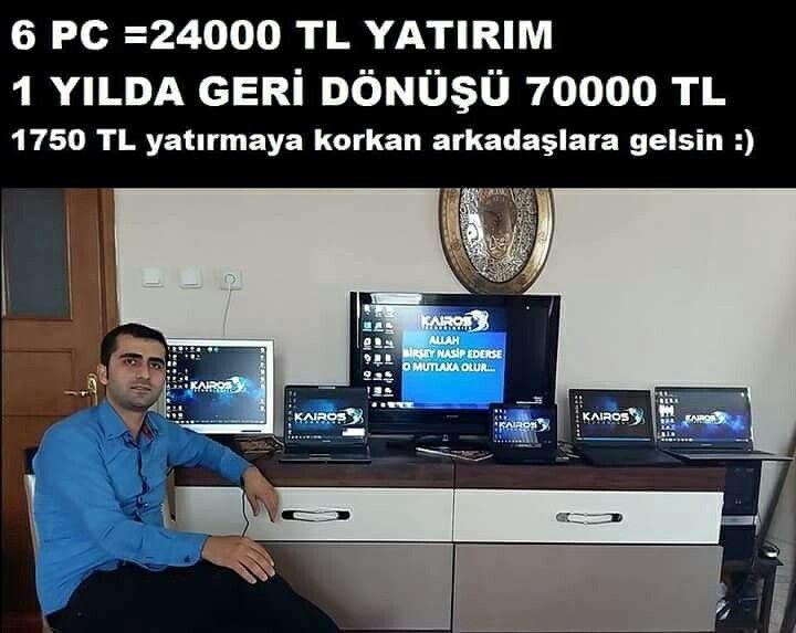Kairos ile 6 7 pc ile devam edenler var  bi platin üyeligin getirdiği aylık para 1700 TL 😎😍