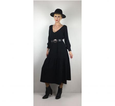 Siyah Bohem Elbise - Black Bohemian Dress