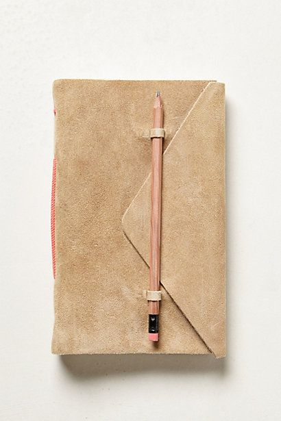 Slipped-In-Suede Journal - anthropologie.com