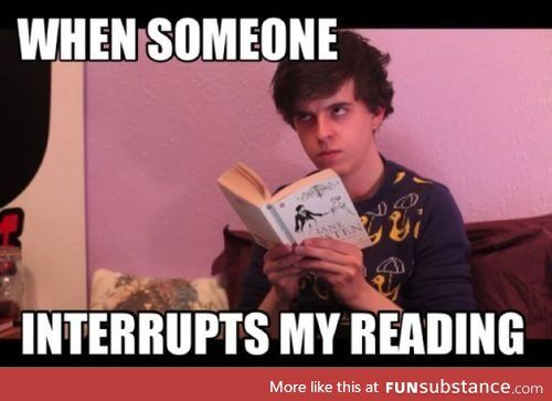 Especially when your reading Percy Jackson and Harry Potter series