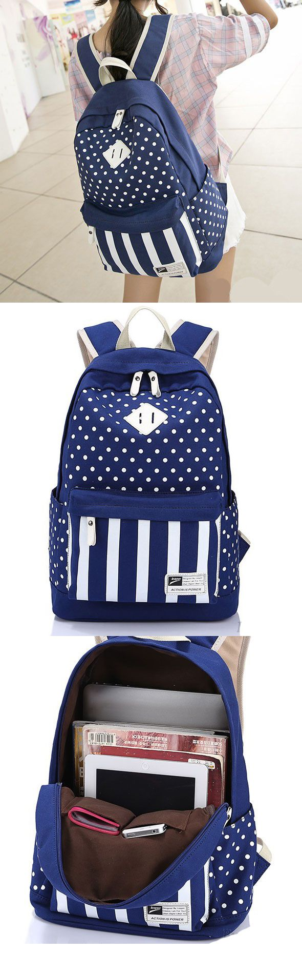 2017 Casual Polka Dot Stripe Canvas Backpack School Bag school bags for teens,school bags for teens backpacks,school bags for teens backpacks student,school bags for teens backpacks black,school bags for teens backpacks casual,school bags for teens backpacks vintage,school bags for teens handbags,school bags for teens handbags fashion,school bags for teens handbags canvases,school bags for college