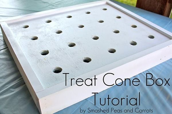 treat cone box tutorial