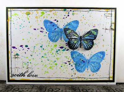 Butterfly card made for The Artistic Stamper using some of their wonderful stamps. #card #artisticstamper #butterfly #distressoxides #stamping #create #mixedmedia #handmade