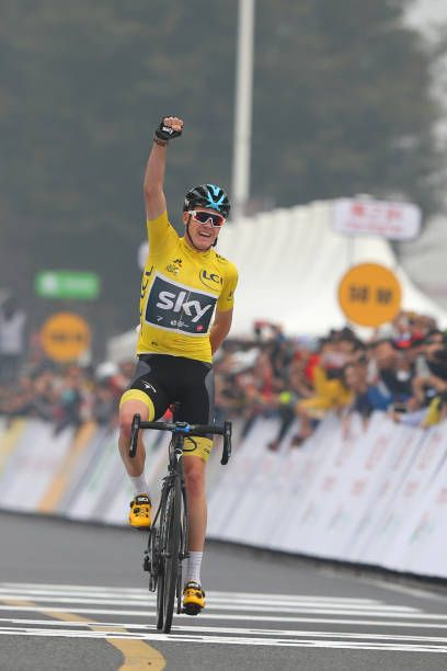 1st TDF Shanghai Criterium 2017 Arrival / Christopher FROOME Yellow Leader Jersey Celebration / Shanghai Shanghai / TDF / Shanghai Criterium /