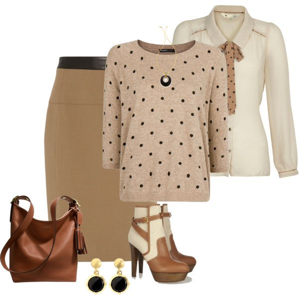 Pencil Skirt Outfit with Duffle Bag, created by mozeemo on Polyvore