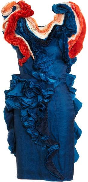 FELICITY BROWN  what a work of art!!!!  Cap Sleeve Ruffle Dress - Lyst