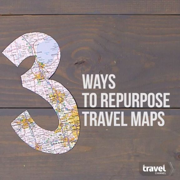 Show Off Your Travels With 3 Easy Map Crafts