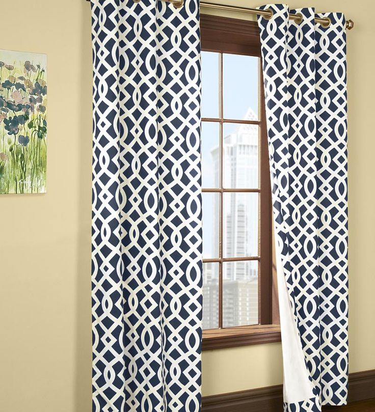 "95""L Thermalogic™ Trellis Grommet-Top Insulated Curtains"