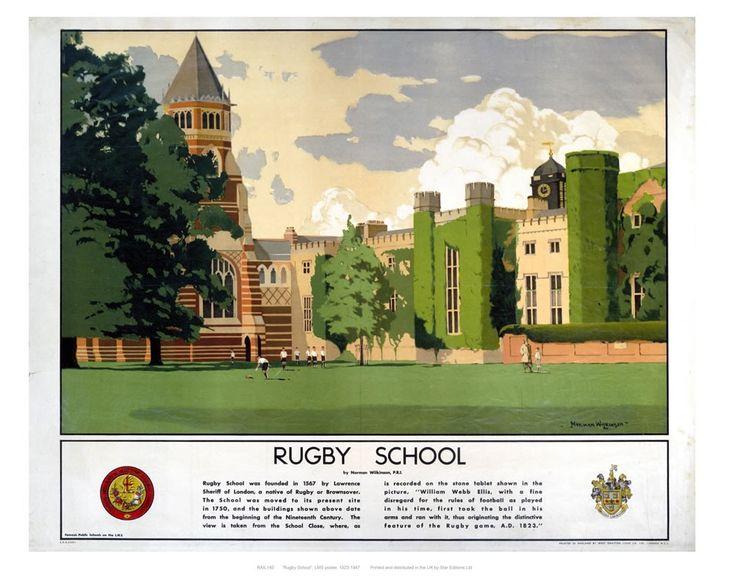 Railway Posters - Rugby School Art Print