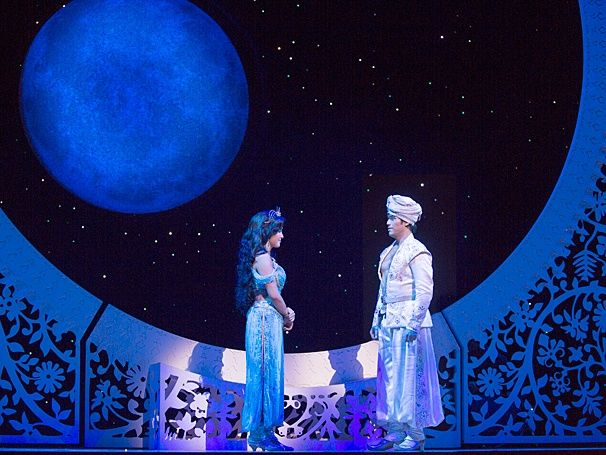 Aladdin:ShowPhotos Courtney Reed as Jasmine and Adam Jacobs as Aladdin