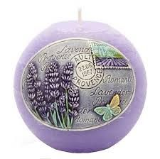 levanduľová sviečka guľa 11 cm