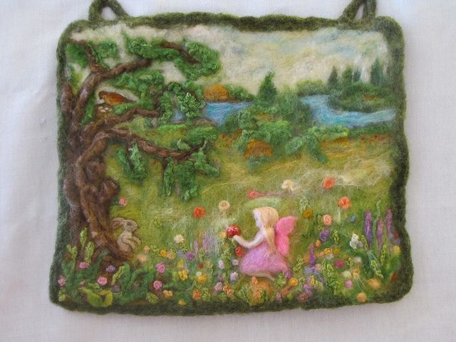 My First Needle Felted Wool Tapestry by Katya's home, via Flickr