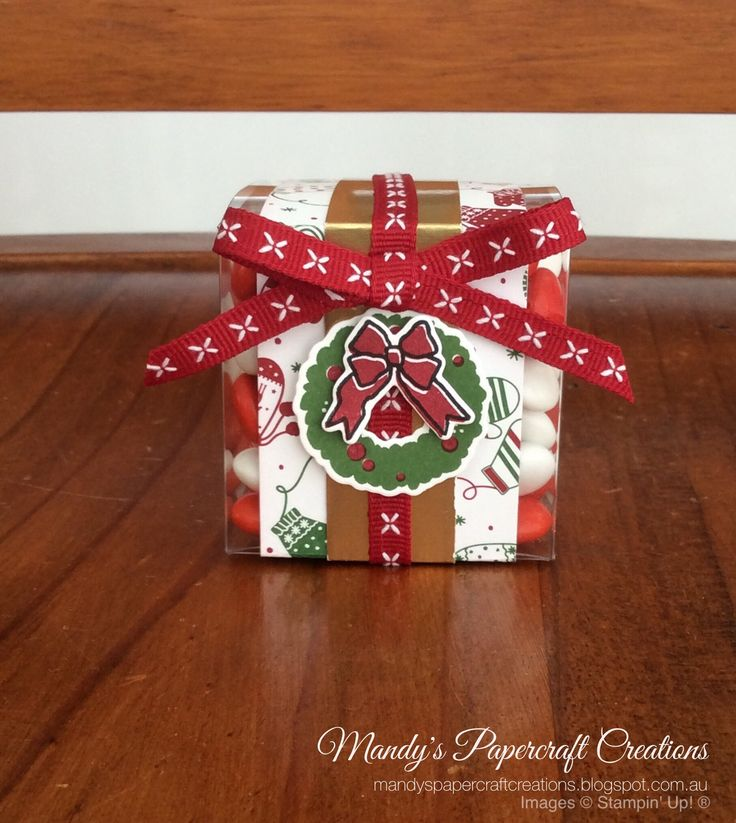 Stampin' Up! Acetate boxes Christmas gift